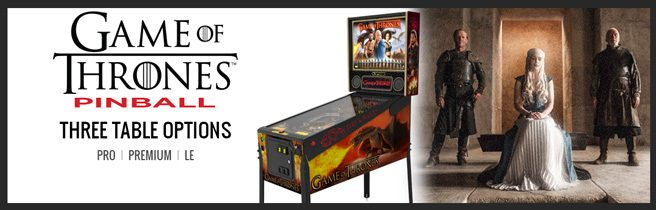 GoT Game of Thrones Stern Pinball